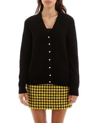 Alessandra Rich Cable-knit Cardigan - Black