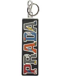 Prada Key Rings Leather - Black