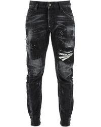 DSquared² Tidy Biker Jeans - Black