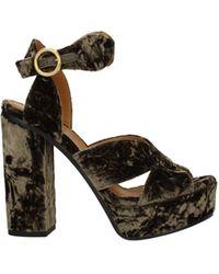Chloé Sandals Velvet - Brown