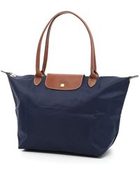 Longchamp Large Le Pliage Shopping Bag - Blue