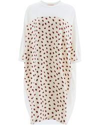 Marni Polka Dot Jersey Dress - Multicolour