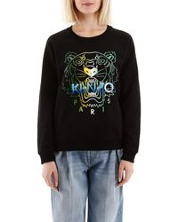 KENZO Tiger Print Sweatshirt - Black