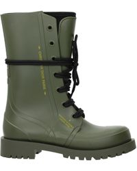 Dior Green Boots