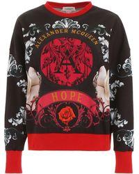 Alexander McQueen Printed Sweatshirt - Red