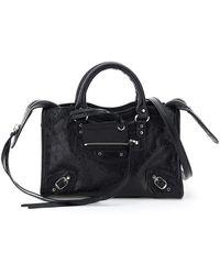 "Balenciaga "" Nano Classic City Leather Bag"" - Black"
