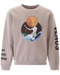 Valentino Soul Planets Print Sweatshirt - Pink