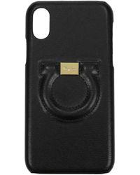 Ferragamo Iphone Cover Iphone X Leather - Black