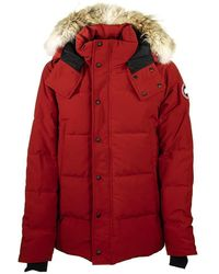 Canada Goose Wyndham Parka Red Maple Jacket