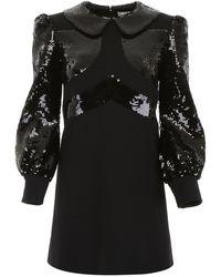 Celine Dress With Sequins - Black