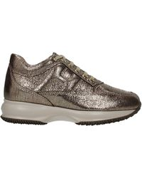Hogan Sneakers Interactive Suede - Brown