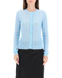 Prada Mohair Cardigan 42 Wool - Blue