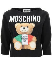 Moschino Italian Teddy Bear T-shirt - Black