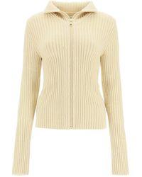 Bottega Veneta Knitted Cutaway Sweater - Natural