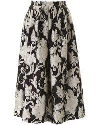 Dries Van Noten Jacquard Midi Skirt - Black
