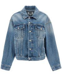 MM6 by Maison Martin Margiela Vintage Denim Jacket 42 Denim,cotton - Blue