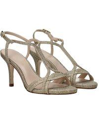 Stuart Weitzman Sandals Sunny Glitter - Metallic