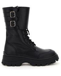 Miu Miu Combat Boots - Black