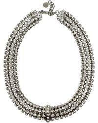 Miu Miu Silver Necklaces - Metallic