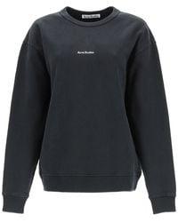 Acne Studios Logo Print Crewneck Sweatshirt - Gray