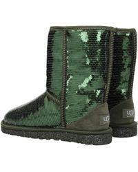 43d010bbf7b UGG Black Sequin Classic Short Sparkles Boots - Lyst