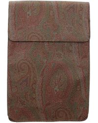 Etro Gift Ideas Shirt And Tie Case Fabric - Brown