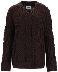 Nanushka Arwan Oversize Sweater - Black