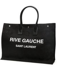 Saint Laurent Rive Gauche Camouflage Noe Shopping Bag - Black