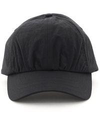 A_COLD_WALL* Crinkle Nylon Baseball Cap Os Technical - Black