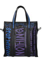 Balenciaga Handbags Bazar Graffiti Leather - Black