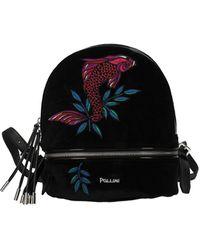 Pollini Backpacks And Bumbags Velvet - Black