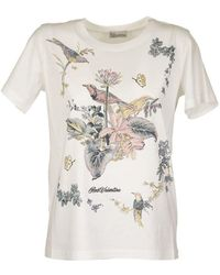 RED Valentino White T-shirt With Floral Print