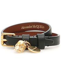 Alexander McQueen Thin Skull Bracelet - Multicolour