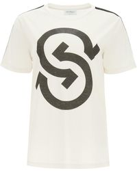 Ferragamo Maxi Gancini Logo T-shirt S Cotton - White
