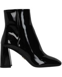 Prada Ankle Boots Patent Leather - Black
