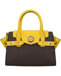 Michael Kors Handbags Carmen Sm Fabric Sunflower - Brown