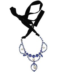 Miu Miu Necklaces Stainless Steel - Blue