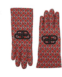Balenciaga Gloves Leather - Red
