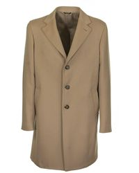 Loro Piana Sartorial Coat L.carame - Multicolour