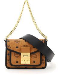 MCM Patricia Visetos Crossbody Mini Bag - Black