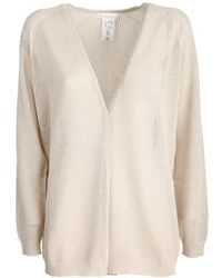 Fabiana Filippi Cardigan In Light Vanisè Lurex Cotton - Natural