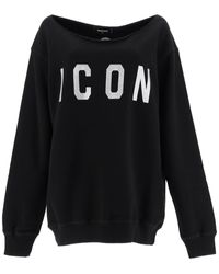 DSquared² Icon Sweatshirt With Crystals - Black