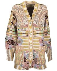 Etro Jacquard Cardigan With Pegaso Buttons - Multicolour