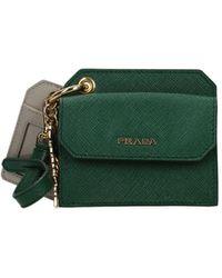 Prada Coin Purses Leather - Green