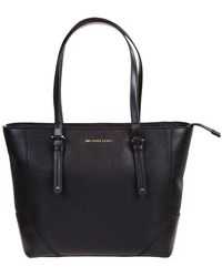 Michael Kors Black Leather Tote Bag