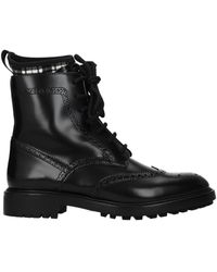 Dior Ankle Boots D Order Leather - Black