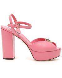 Dolce & Gabbana Platform Sandals Bianca - Pink