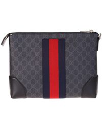 Gucci Pouch With GG Supreme Fabric - Black