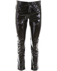 N°21 Vinyl Pants - Black