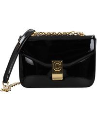 Celine Crossbody Bag Patent Leather - Black